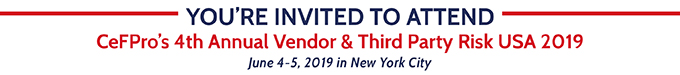 YOU'RE INVITED TO ATTEND VENDOR & THIRD PARTY RISK USA