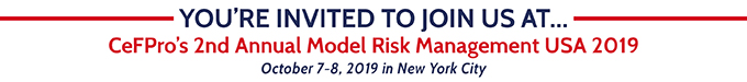 2nd Annual Model Risk Management USA Congress | October 7-8 | New York City
